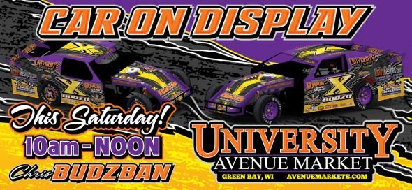 Budzo Racing on Display at University Avenue Market