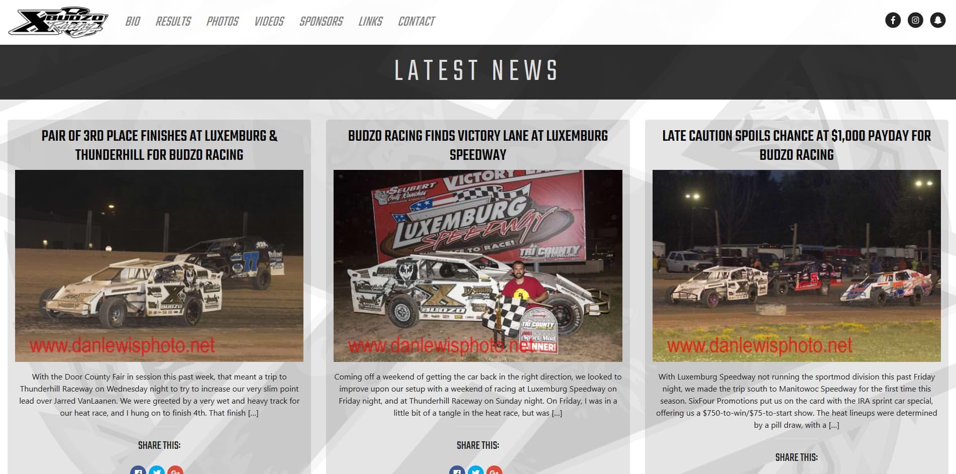 Budzo Racing Rolls Out New Website for 2018   Budzo Racing   #X